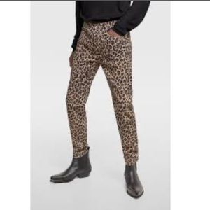 Zara 32 men's super skinny leopard print pants